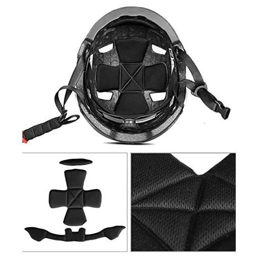 Portable pour la myopie Casque De Vélo De Montagne, Vélo Casque De Vélo Planche À roulettes Scooter Hoverboard Casque Riding Sécurité Légère Réglable