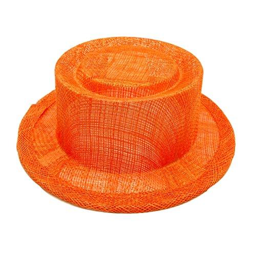 HATsanity Women's Sinamay Mini Sombrero de la empanada de cerdo Naranja