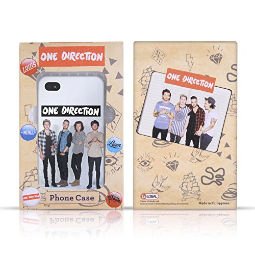 Officiel One Direction Blanc Photo De Groupe Doodle Icône Étui Coque en Gel molle pour Apple iPhone 6 / 6s