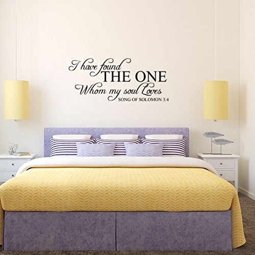 Song of Solomon 3:4 I Have Found My Soul - Wall Decal Vinyl - 13'' x 28'' - Religious Vinyl Wall Art - Christian Wall Decoration - Love Quote Bedroom Decor by Pulse Vinyl