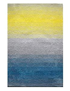 The Red Carpet Highlight Shaggy Collection, 300 Cm X 200 Cm - Grey, Blue And Yellow