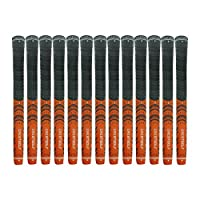Crestgolf New-arrival Updated Multi-Compound Golf Grips for Golf Clubs Set of 13?More Anti-Slip, Ecological Cotton Yarn Thread Technology, Midsize or standard size for you