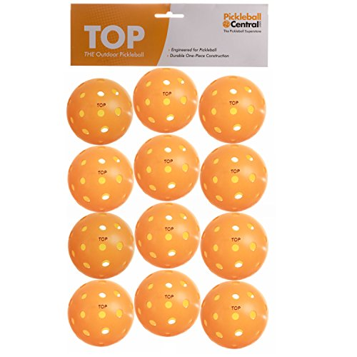 TOP ball (The Outdoor Pickleball) - DOZEN (12 Balls) - Orange - USAPA Approved for Tournament Play