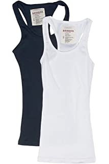 344bda35dbdca Sofra Women s Tank Top Cotton Ribbed at Amazon Women s Clothing store