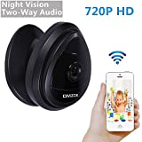 DMZOK Security WiFi Camera, Baby Camera, 720P 2- Way Audio for Listen and Talk, Remote Monitoring on Iphone and Android, Pet Camera with Video Chat, Night Vision