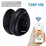 Cheap DMZOK Security WiFi Camera, Baby Camera, 720P 2- Way Audio for Listen and Talk, Remote Monitoring on Iphone and Android, Pet Camera with Video Chat, Night Vision