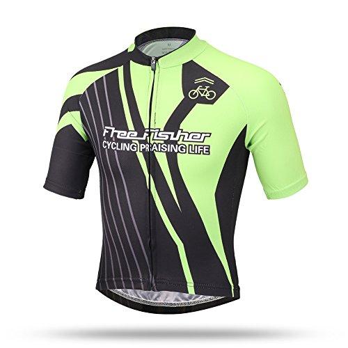 FREE FISHER Kids Boys' Girls' Short Sleeve Cycling Jersey Top Racing L