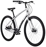 Cheap Diamondback Bicycles Division Comfort Bicycle, Silver, 19″/Large