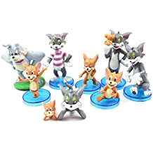 Tom and Jerry Figures Toys Set 9 Pcs (3cm - 7cm Approx) Cat Mouse