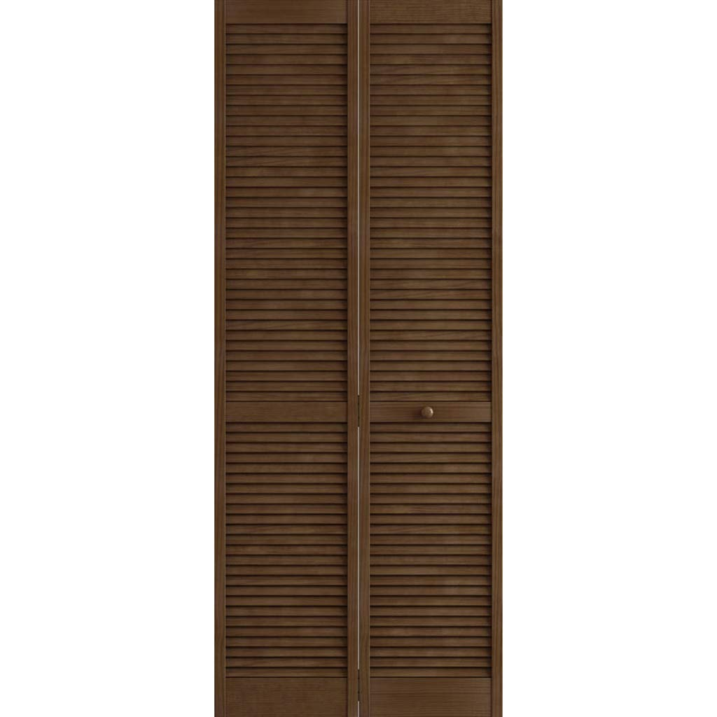 Kimberly Bay Traditional Louver Louver Espresso Solid Core Wood Bi-fold Door (80x24) by Kimberly Bay TM
