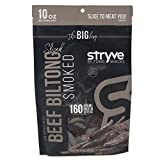 Stryve Smoked Beef Biltong | Keto Meat Snack | 16g Protein | Low Carb No Fat Low Sugar | Gluten Free Soy Free | 10 Ounce Bag