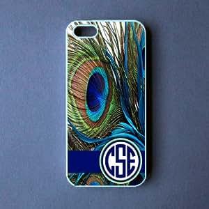Monogram Iphone 5c Case - Peacock Feather Monogram Iphone 5c Cover