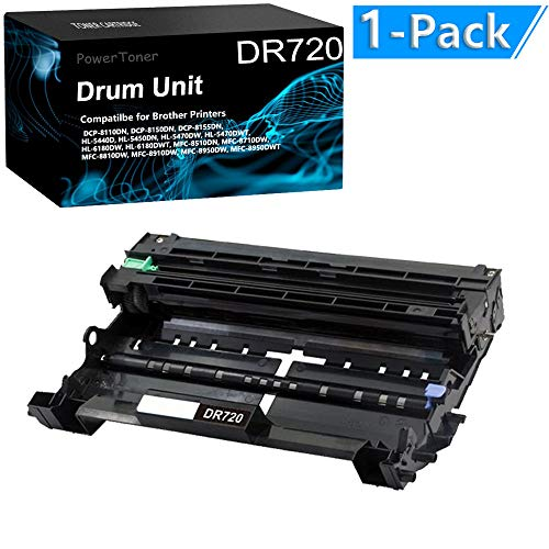 1-Pack Compatible DCP-8150DN Printer Drum Kit (Durable) Replacement for Brother DR720 Drum Unit by PowerToner