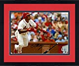 "Framed Kolten Wong St. Louis Cardinals Autographed 8"" x 10"" Drop Bat Photograph - Fanatics Authentic Certified"