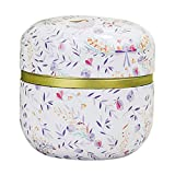Balai Round Tea Tins Mini Metal Candy Trinket Sealed Cans Colorful Retro Caddy Box Home Kitchen Storage Containers & Jars Small Portable Travel,Iron Odorless Moisture-Proof Eco-Friendly