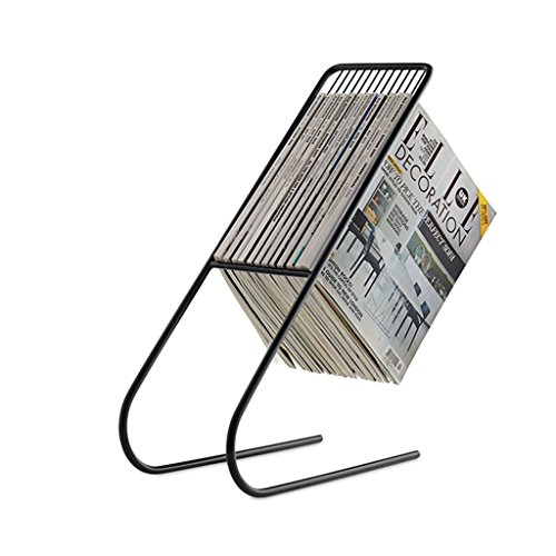 Chi Cheng Fang Electronic business Magazine Holders Modern European magazine rack Newspaper rack Living room study small bookshelf Magazine storage rack Creative Personality book shelf by Chi Cheng Fang Electronic business