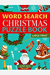 Christmas Word Search Puzzle Book (Large Print): Holiday Fun for Adults and Kids Paperback