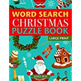 Christmas Word Search Puzzle Book (Large Print): Holiday Fun for Adults and Kids
