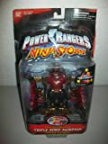 power rangers zords original - Power Rangers Ninja Storm 2003 Crimson Thunder Triple Zord Morphin' action figure MOSC MOC