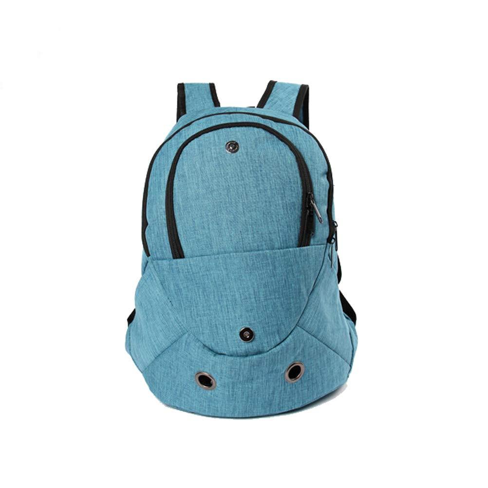 Pet Carrier Fashion Dog Cat Pet Carrier Bags Travel Bag Backpack (bluee)