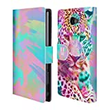 Head Case Designs Leopard Trend Mix Leather Book Wallet Case Cover For Sony Xperia Z5 Premium / Dual