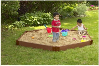96 in. Hexagonal Sandbox by Frame-It-All