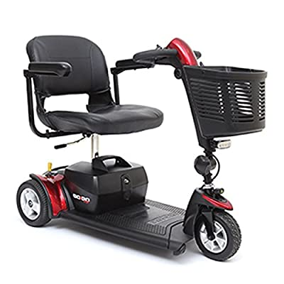 Pride Mobility - Go-Go Sport - Travel Scooter - 3-Wheel - Red - PHILLIPS POWER PACKAGE TM - TO $500 VALUE