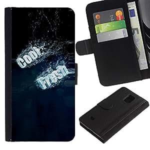 Ihec-Tech / Flip PU Cuero Cover Case para Samsung Galaxy S5 Mini, SM-G800, NOT S5 REGULAR! - Cool Fresh Typography