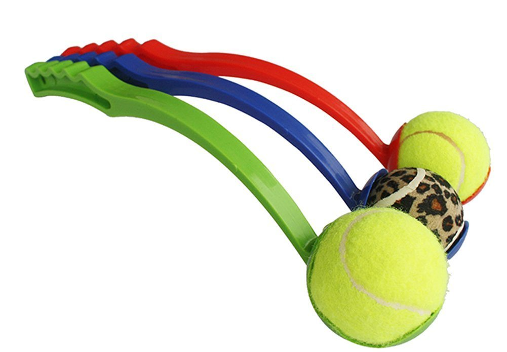 FlorisHome 1pc Pet Supplies Puppy Fun Tennis Ball Launcher Thrower Chucker Outdoor Dog Training Tool 48cm Random Color