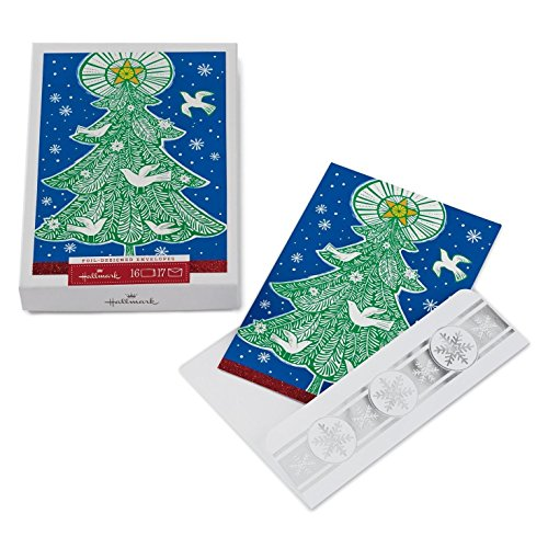Hallmark Px4817 16 Ct Christmas Tree with Doves Boxed (Dove Christmas Tree)