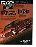 Magazine Print Ad: Red 1987 Toyota Supra Turbo, 'The Dynasty Accelerates""