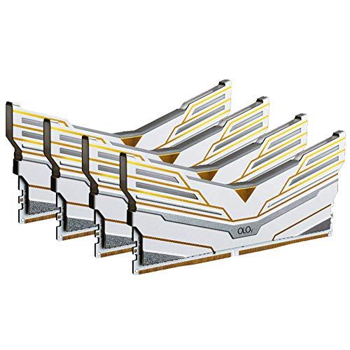 OLOy DDR4 RAM 64GB (4x16GB) Warhawk Aura Sync RGB 3600 MHz CL18 1.35V 288-Pin Desktop Gaming UDIMM (MD4U1636180DCWQX)