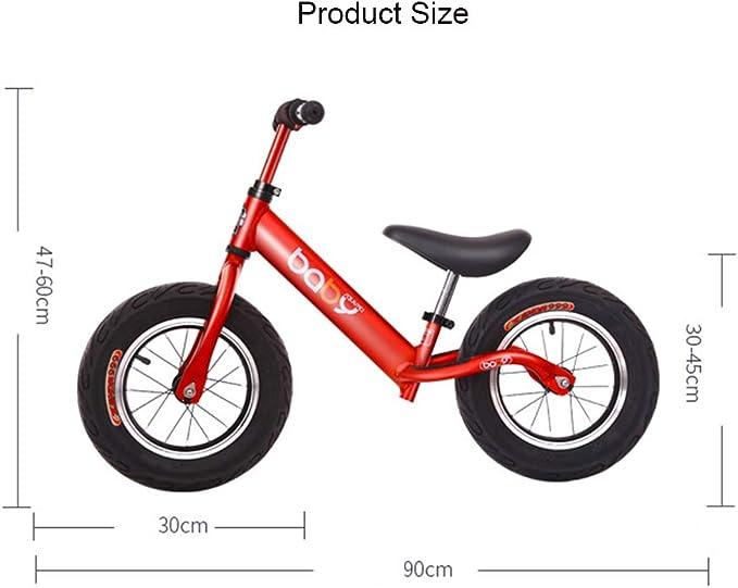 YJF Bicicleta de Equilibrio para niños sin Pedales y neumáticos con Manillar y Asiento Ajustables para niños pequeños de 24 Meses a 6 años,C: Amazon.es: Hogar