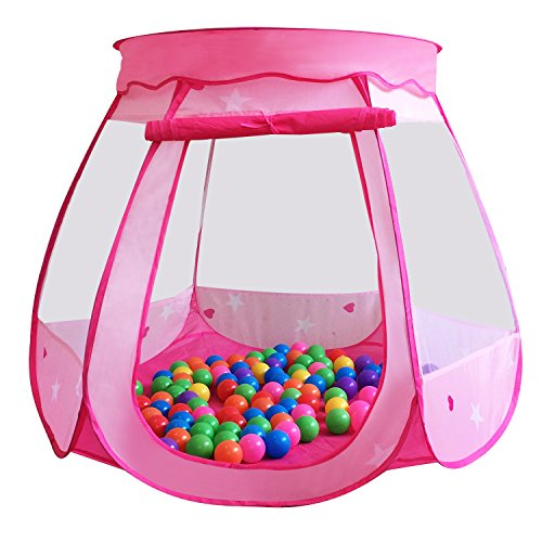 [Kiddey Pink Princess Play Tent for Kids - Pop Up Indoor/Outdoor Fun for Imagination and Roleplay - Easy to Assemble Personal Ball Pit (Balls Not Included) - Safe for Ages 1-8 - By] (Back To School Theme Party Costumes)