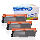 Inktoneram Compatible Toner Cartridges Replacement for Brother TN660 TN-660 TN630 TN-630 High Yield HL-2340DW HL-2380DW HL-2300D DCP-L2540DW DCP-L2520DW MFC-L2700DW MFC-L2740DW Printer (Black-3PK)