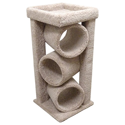 New Cat Condos Premier Triple Cat Tunnel, Beige