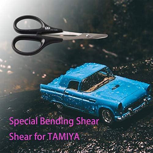 1 Tama/ño negro TAMIYA Craft Tools Tijera RC para coche de acero inoxidable duro 74005 RC Veh/ículo Cuerpo del barco Shell Shell Tijeras curvadas para pl/ástico