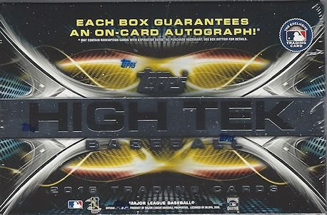 2016 Topps High Tek MLB Baseball HOBBY box (8 cards) ()
