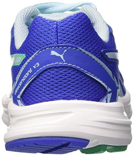 Puma Descendant v3 Jr - zapatilla deportiva de material sintético Dazzling Blue/Mint Leaf/White