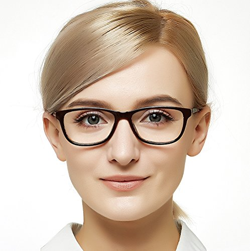 (OCCI CHIARI Vogue Eyeglasses Frame Clear Lens Glasses Samll Circle Non Prescription Eyeglasses For Women (Brown))