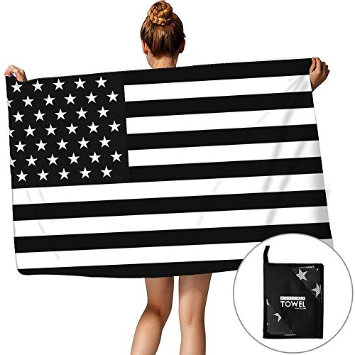 TUONROAD Bright Colored Bath Beach Swimming Towels Patriotic Patriot American USA Flag Super Absorbent Personalized Yoga Mat Blankets for Outdoor Sports Gym Bathroom Hotel