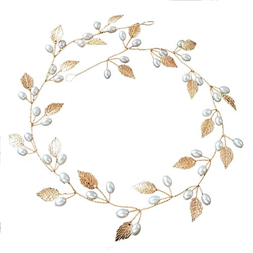 Gold Leaf Hair Jewelry Bridal Hair Accessories Tiara Head Piece Hair ornaments wedding party tiaras And crowns Headbands by Sunshinesmile