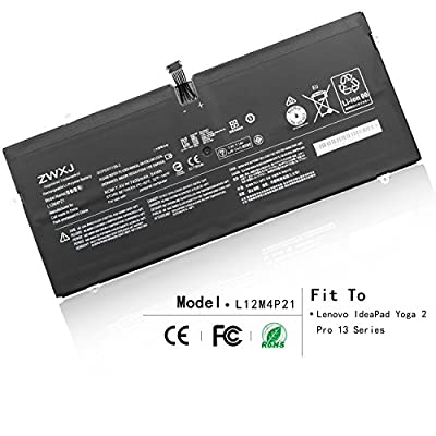 ZWXJ Laptop Battery L12M4P21 L13S4P21 (7.4V 54Wh) for Lenovo IdeaPad Yoga 2 Pro 13 Series 121500225 2ICP5/57/128-2 from ZWXJ