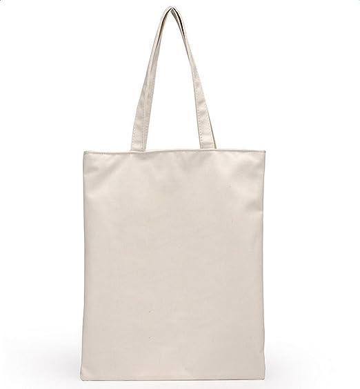 Da. WA Natural mango largo bolsa de compra de lona, bolsas para los compradores y tela pintura
