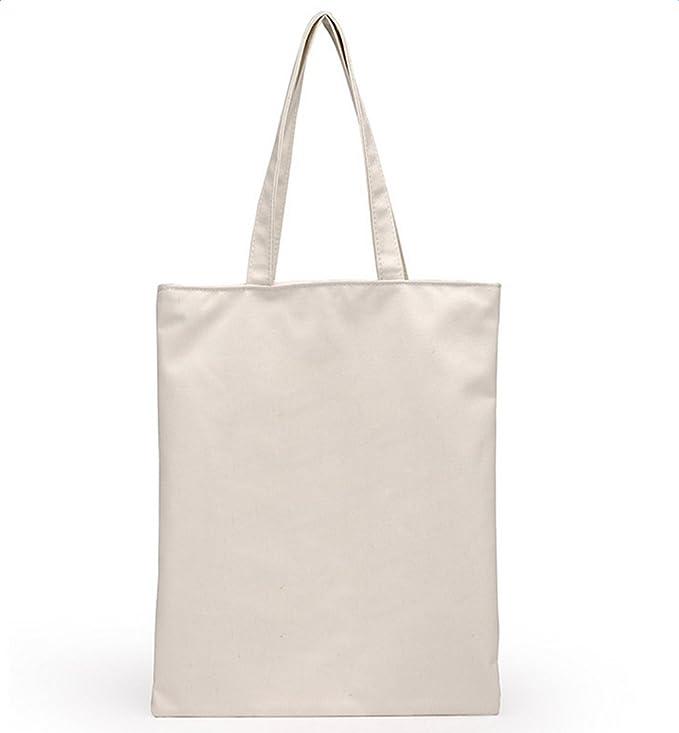 Da. WA Natural mango largo bolsa de compra de lona, bolsas ...