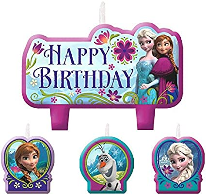 Birthday Candle Set | Disney Frozen Collection | Party Accessory