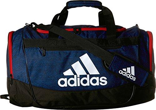 adidas Defender III Duffel Bag, Collegiate Royal Blue Jersey/Scarlet/Black/White, Medium (Compartment Drawstring Has Main)
