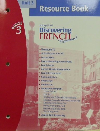 Discovering French Rouge 3 (Unit 3 Resource Book, Unit 3)