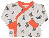 Finn + Emma Organic Cotton Kimono Shirt Top for Baby Boy or Girl – Woodland, 3-6 Months
