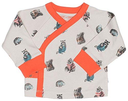 Finn + Emma Organic Cotton Kimono Shirt Top for Baby Boy or Girl – Woodland, 3-6 Months by Finn + Emma